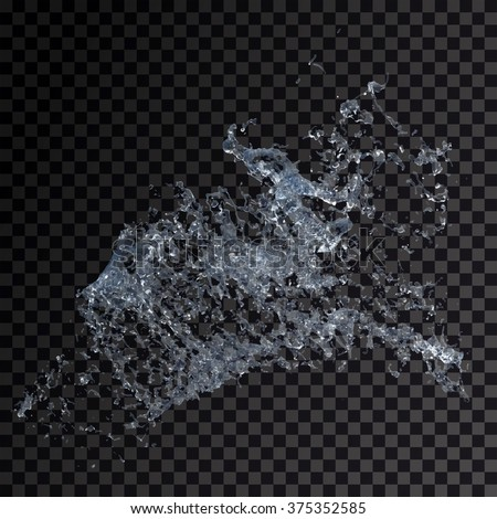 Water splash isolated , spray , wave , vector illustration  - stock vector