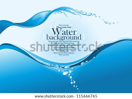Water splash. (vector illustration) - stock vector