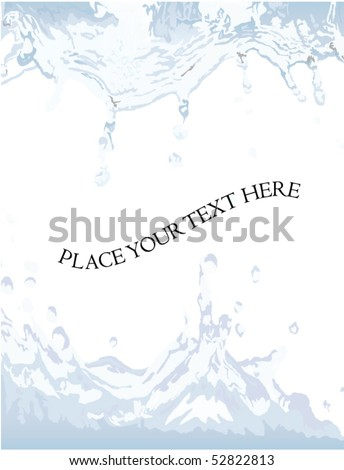 water splash with place for your text - stock vector