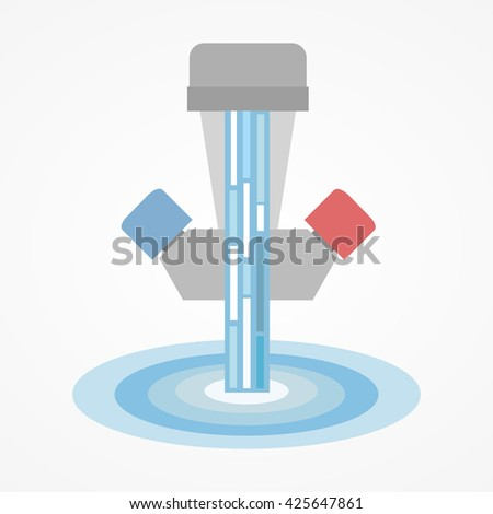 Water tap - stock vector