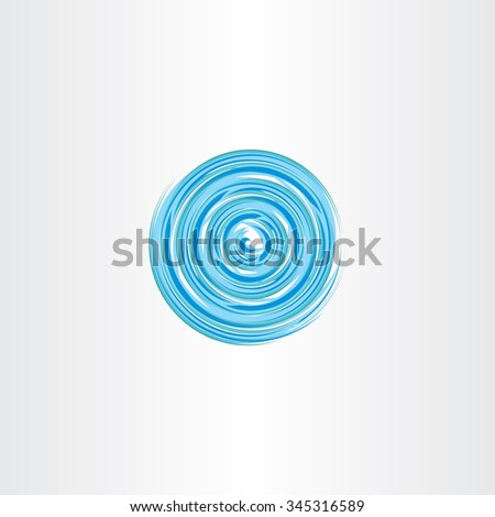 water vortex spiral circle icon vector design - stock vector