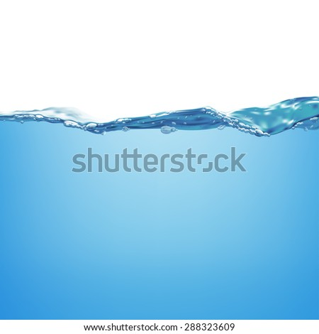 Water wave and air bubbles. Vector illustration - stock vector