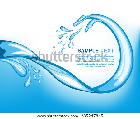 Water wave background. EPS 10 vector illustration with mesh.