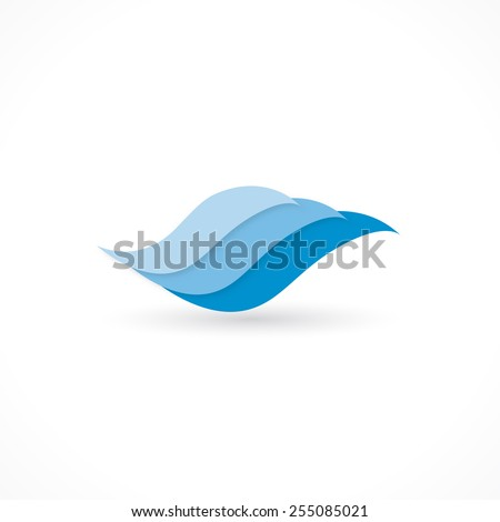 water wave icon design in vector format - stock vector