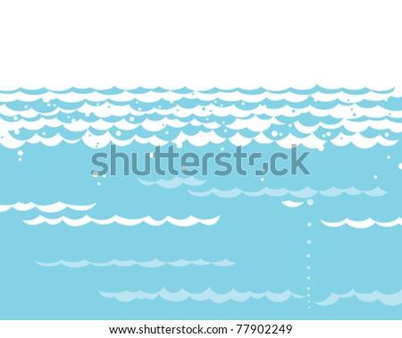 water waves - stock vector
