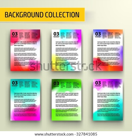 Watercolor Abstract background collection for business artwork. Vector Illustration, Graphic Design Editable For Your Design. - stock vector