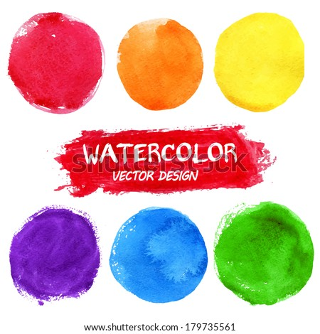 Watercolor abstract background. Colorful  theme for your design