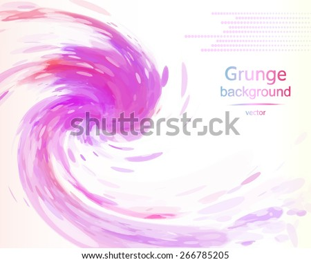 watercolor abstract background, grunge, banner, vector illustration - stock vector