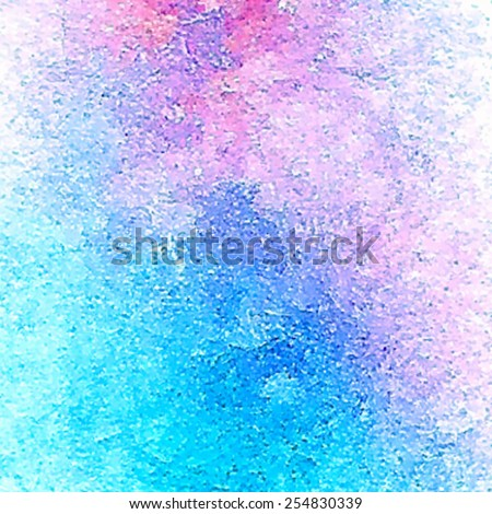 Watercolor and acrylic texture colorful hand drawn background. Brush painted smudges abstract vector background. Grunge wallpaper. Splatter design card for scrapbook, template, banner, poster, print. - stock vector