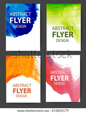 watercolor background design for flyer or brochure - stock vector