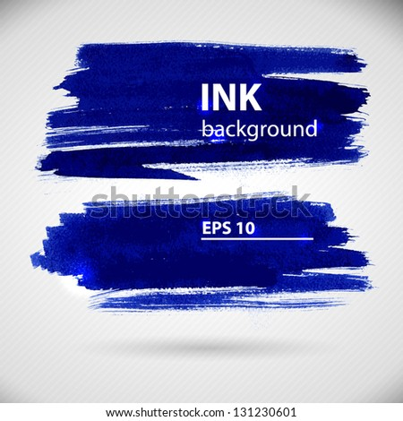 Watercolor banner with copy space. Vector illustration. - stock vector
