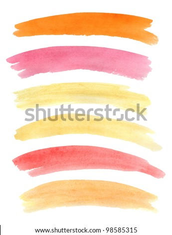 Watercolor banners. Vector illustration - stock vector