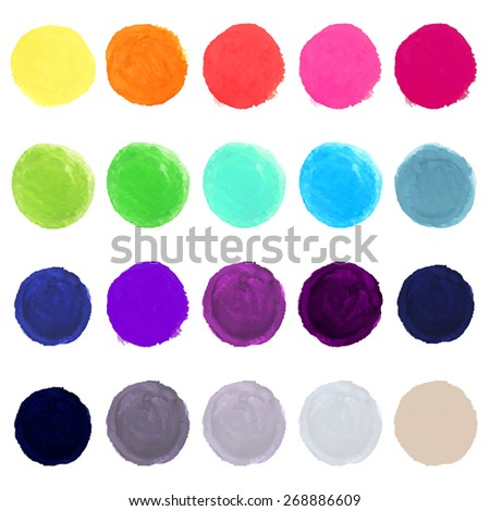 Watercolor Blots, Vector Illustration - stock vector
