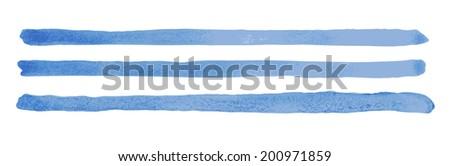Watercolor Brush Lines. Vector Brush Strokes - stock vector