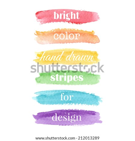 Watercolor elements for design. Vector illustration - stock vector