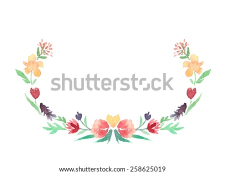 Watercolour Floral Wreath Stock Images, Royalty-Free Images & Vectors | Shutterstock