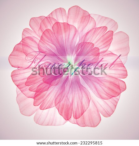 Watercolor floral round patterns. Vectorized watercolor drawing.   - stock vector