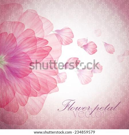Watercolor floral vintage card Vectorized watercolor drawing.   - stock vector