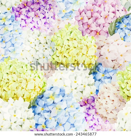 Watercolor Hydrangea Wallpaper Flowers