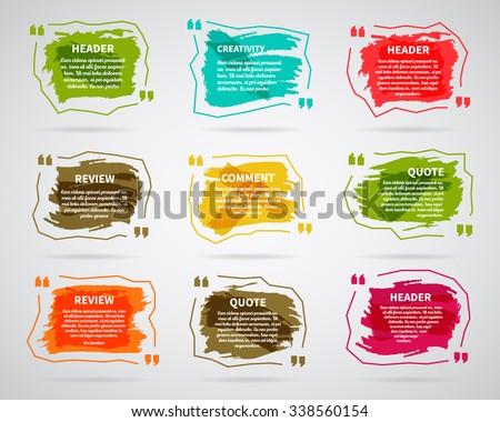 Watercolor Ink Splash Quote Blank Templates Stock Vector 338560154 ...
