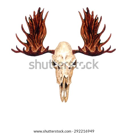 moose tattoo stock images royalty free images vectors shutterstock. Black Bedroom Furniture Sets. Home Design Ideas