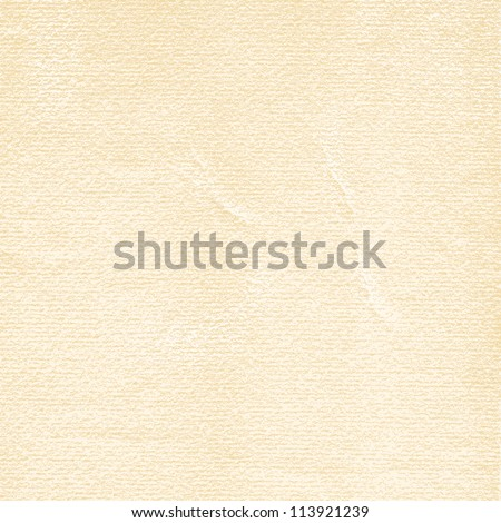 Watercolor paper old texture with damages, folds and scratches. Vintage empty beige background with space for text. This vector illustration clip-art design element saved in 8 eps - stock vector