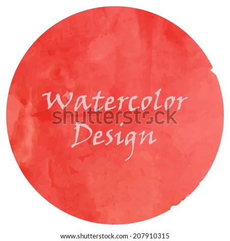 Watercolor purple red background design, made in vector. - stock vector