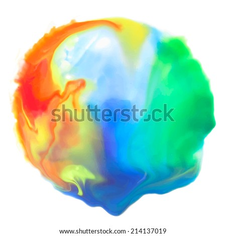 Watercolor rainbow colorful background for textures, logos and backgrounds. Vector