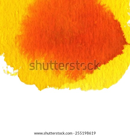 watercolor red, orange, yellow abstract background