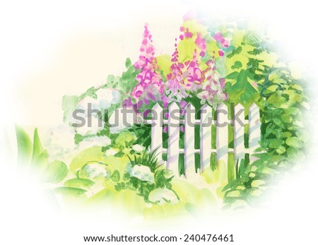 Vector Fence Image Painted Stock Photos Images