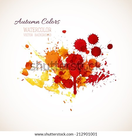 Watercolor splash background, vector illustration
