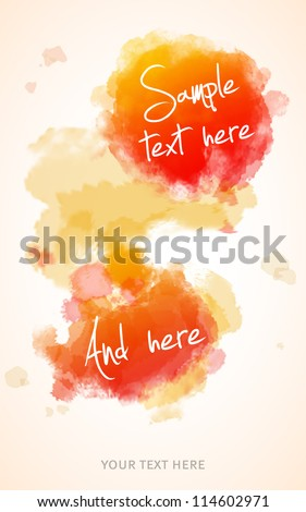Watercolor splatter background - stock vector