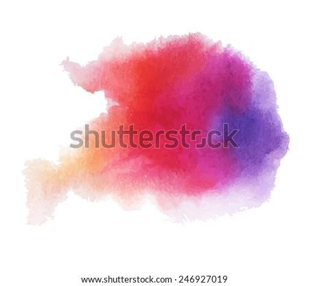 Watercolor splatters.  Vector illustration. - stock vector