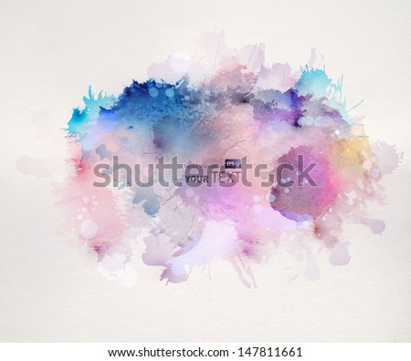watercolor stains - stock vector