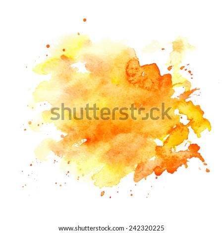 Watercolor stains on white background, abstract blots isolated. Bright colors, divorces. Vector watercolor. - stock vector