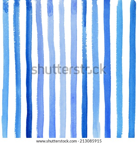 watercolor striped background - stock vector