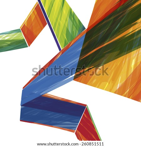 Watercolor stripes pattern : vector eps.10 - stock vector