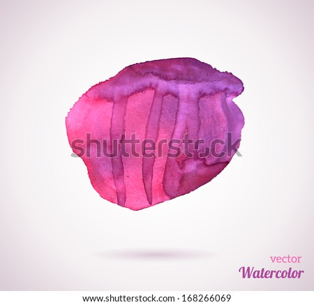 Watercolor texture. Vector illustration. Purple grunge paper template. Water. Wet paper. Blobs, stain, paints blot. Composition for scrapbook elements. Brush strokes. Background for Valentine's day. - stock vector