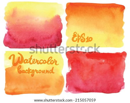 Watercolor vector background  - stock vector