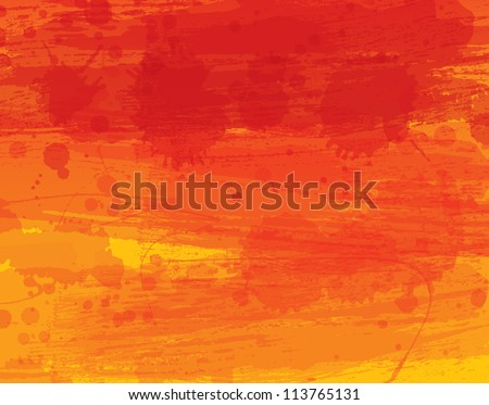 Watercolor vector background with warm colors - stock vector