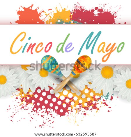 Watercolors cinco de mayo greeting card stock vector 632595587 watercolors cinco de mayo greeting card poster background m4hsunfo