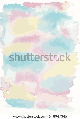 Watercolour textured background in yellow blue and pink