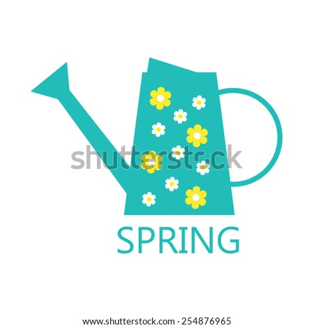 Watering can - stock vector
