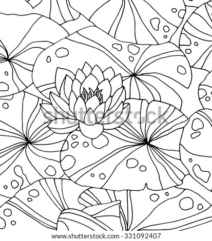 Spring Coloring Pages additionally Spring likewise Waterlilies Isolated On White Forest Wild 331092407 likewise Stock Vector Set Of Line Drawing Herbs Vector Illustration furthermore Black And White Frame Birthday Frame Birthday Dermatology Pictures. on garden flowers pond