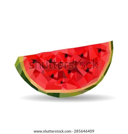 watermelon geometric  - stock vector