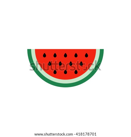 Watermelon Icon in trendy flat style isolated on white background. Summer symbol for your web site design, logo, app, UI. Vector illustration, EPS10.