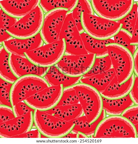 Watermelon pattern  - stock vector