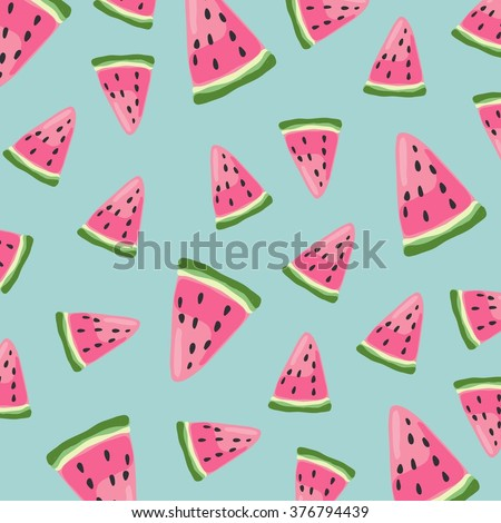 Watermelon vector pattern