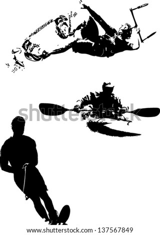 Watersports - stock vector
