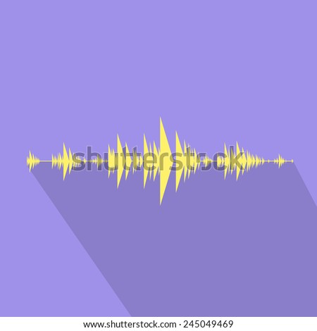wave audio music stream flat design vector illustration - stock vector